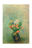 Poppies and Other Flowers in a Vase Giclee Print by Odilon Redon
