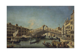 Rialto Bridge in Venice Giclee Print by Michele Marieschi