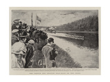 The French and English Boat-Race on the Seine Giclee Print by Paul Destez