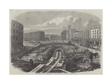 The Metropolitan (Underground) Railway, Works in Progress at King'S-Cross Giclee Print by Percy William Justyne