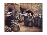 Vegetable Market Giclee Print by Mortimer Ludington Menpes