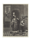 The Idle Servant Giclee Print by Nicolaes Maes