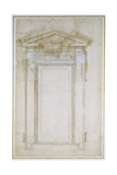 Study of a Window with Triangular Gable, C.1546 Giclee Print by  Michelangelo Buonarroti