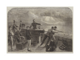 "The Volunteer Artillery Corps Learning Gun Practice at Hythe Giclee Print by Matthew ""matt"" Somerville Morgan"