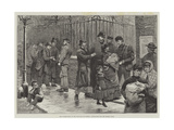 "The Unemployed at the East-End of London, Applicants for the Relief Fund Giclee Print by Matthew ""matt"" Somerville Morgan"