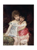 Portrait of Bianca and Amelia Pisani, Circa 1884 Giclee Print by Michele Gordigiani
