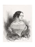 Mme. Montigny, 1842 Giclee Print by Paul Gavarni