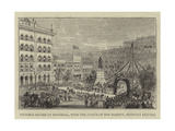 Victoria Square at Montreal, with the Statue of Her Majesty, Recently Erected Giclee Print by Percy William Justyne