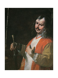 Self Portrait, from 'St John the Baptist Preaching' Giclee Print by Mattia Preti