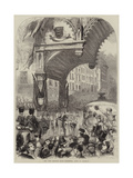 "The Lord Mayor's Show, Triumphal Arch in Cornhill Giclee Print by Matthew ""matt"" Somerville Morgan"