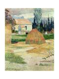 Landscape Near Arles, 1888 Stampa giclée di Paul Gauguin