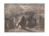 Washington at the Valley Forge by the Camp Fire Giclee Print by Paul Hardy