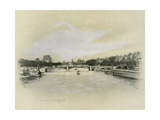 The Seine at Paris Giclee Print by Mortimer Ludington Menpes