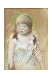 Child with Bangs in a Blue Dress, C.1910 Giclee Print by Mary Cassatt