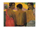 Three Tahitians, 1899 Giclée-tryk af Paul Gauguin