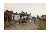 A Welsh Village - Evening Giclee Print by Peter Ghent