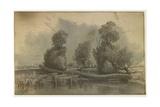 Cliche Verre - Landscape Giclee Print by Nicolas Louis Cabat