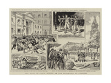 The Riots in Paris, Scenes on the Boulevard St Germain Giclee Print by Paul Destez