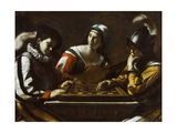 The Game of Draughts, 1630s Giclee Print by Mattia Preti