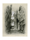 Cathedral at Lillebonne Giclee Print by Mortimer Ludington Menpes