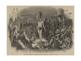 Solomon Eagle Preaching Repentance During the Plague, 1665 Giclee Print by Paul Falconer Poole
