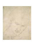 Study of a Head Giclee Print by  Michelangelo Buonarroti