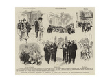 Delegates of British Chambers of Commerce in Paris, the Reception at the Chamber of Commerce Giclee Print by Paul Destez