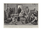 The Revolt in Crete, Christian Refugees in the Piraeus Giclee Print by Paul Destez