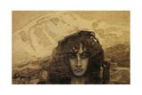 Head of a Demon, 1890 Giclée-Druck von Mikhail Aleksandrovich Vrubel