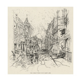The Great Fire in St Mary Axe Giclee Print by Melton Prior