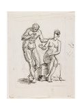 Study of a Standing Male Nude and Seated Female Nude Giclee Print by Pelagio Palagi