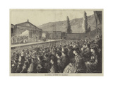 The Audience at the Passion Play, Ober-Ammergau Giclee Print by Matthew White Ridley