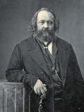 Portrait of Mikhail Aleksandrovich Bakunin, C.1860 Fotografisk trykk av  Nadar