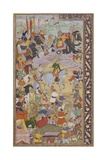 The Emperor Akbar Hunts at Sanganer on His Way to Gujarat, 1600-10 Giclee Print by  Mukund