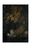 Still Life with Peaches and Grapes, 1665 Giclee Print by Ottmar the Elder Elliger