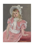 Sara Seated, Leaning on Her Left Hand Giclee Print by Mary Cassatt