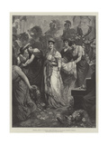 Zenobia, Queen of Palmyra, Taken Prisoner by the Roman Emperor Aurelian Giclee Print by Maynard Brown