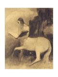 Centaure Lisant Giclee Print by Odilon Redon