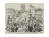 The Reception of Russian Officers in Paris Giclee Print by Paul Destez