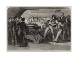 "Naval Instruction on Board HMS the Britannia, Portsmouth, Lessons in Gunnery Giclee Print by Matthew ""matt"" Somerville Morgan"