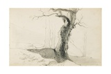 Drawing from an Album Titled 'The Basque Country', 1862-63 Giclee Print by Odilon Redon