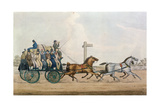 Arriving at the End of a Stage, Engraved by J. Harris, 1856 Giclee Print by Michael Angelo Hayes