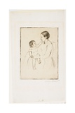 The Caress, C. 1891 Giclee Print by Mary Cassatt