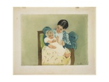 The Barefooted Child, C. 1896-1897 Giclee Print by Mary Cassatt