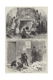 Sketches of Christmas Giclee Print by Myles Birket Foster