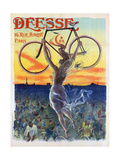 Vintage French Poster of a Goddess with a Bicycle, C.1898 Giclee Print by  Pal