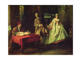 Gallant Hour Giclee Print by Nicolas Lancret