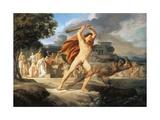 Hercules Defeats Thanatos Wydruk giclee autor Pelagio Palagi