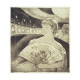 In the Opera (Aquatint Etching) Giclee Print by Mary Cassatt