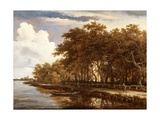 View Along the Amstel, C.1660 Giclee Print by Meindert Hobbema